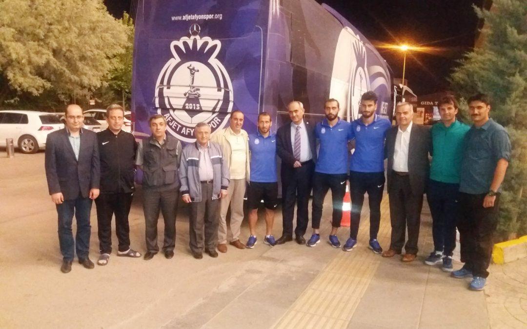 Afyonkarahisar ve İlçeleri Dayanışma Derneği'nden Afjet Afyonspor Kafilesine Ziyaret