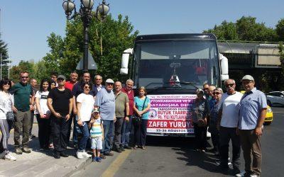 Afyonkarahisar ve İlçeleri Dayanışma Derneği 43. Kuruluş Yıldönümü Etkinlikleri Kapsamında Kocatepe Zafer Yürüyüşü'ne Katıldı